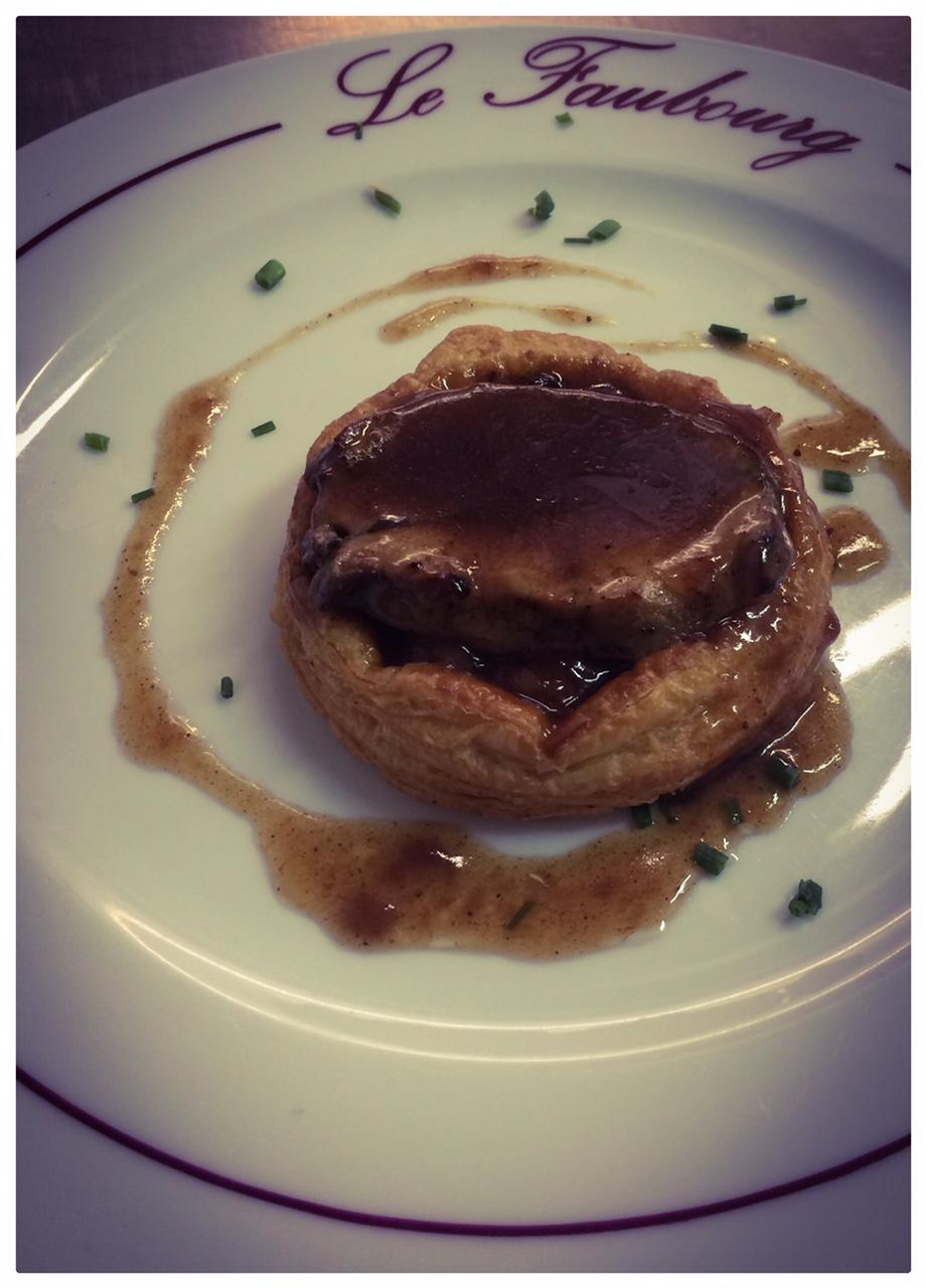 Petite Tatin aux pommes et son Foie gras poêlé Sauce Porto
